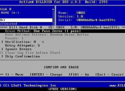 Zerowanie dysku Kill Disk 3