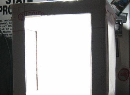 Oświetlenie pudełka