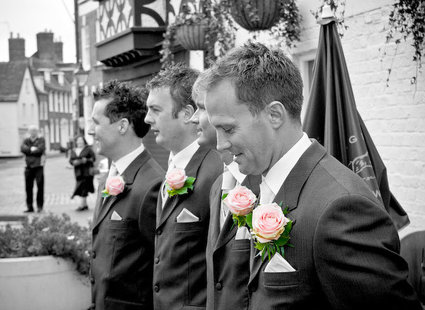 Zdjęcie weselne czarno-białe