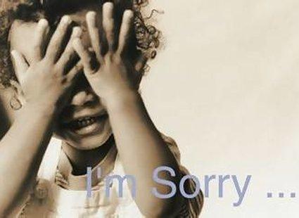 Dziecko przeprasza