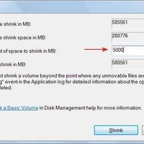 tworzenie partycji w windows 7 - krok 4