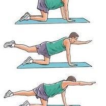 Ćwiczenia na dolny odcinek kręgosłupa krok 3