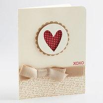 kartka walentynkowa – xoxo