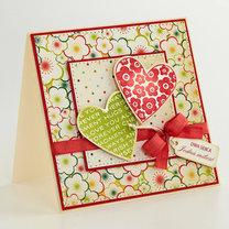 kartka walentynkowa – dwa serca
