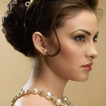 przykładowa fryzura ślubna