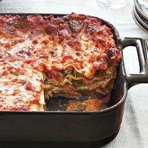 lasagne z trzema serami i brokułami