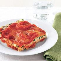 lasagne z groszkiem