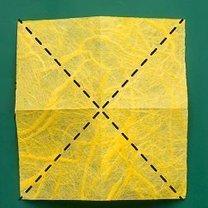 Motyl origami krok 2
