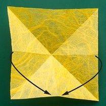 Motyl origami krok 3