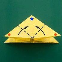 Motyl origami krok 4