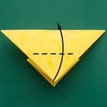 Motyl origami krok 6