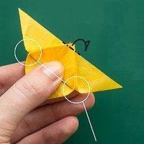 Motyl origami krok 7