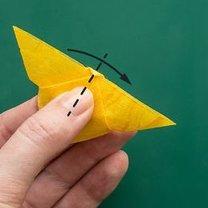 Motyl origami krok 8