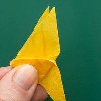 Motyl origami krok 9