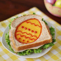 Jajko sadzone w chlebie - pisanka
