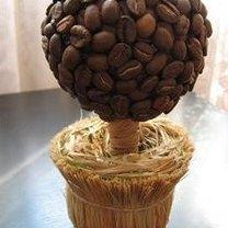 kula dekoracyjna z ziaren kawy