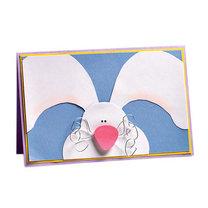 kartka wielkanocna z zajączkiem