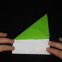 Żaba origami krok 2