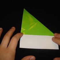 Żaba origami krok 3