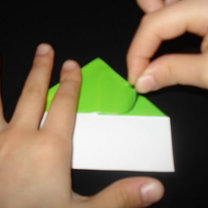 Żaba origami krok 7