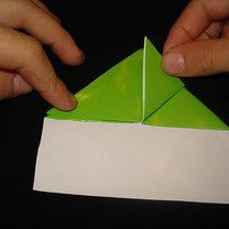 Żaba origami krok 8