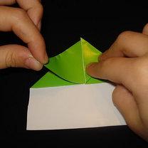Żaba origami krok 9