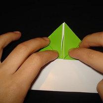 Żaba origami krok 10