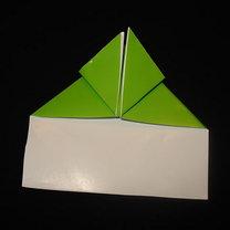 Żaba origami krok 11