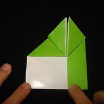 Żaba origami krok 12