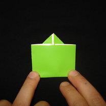 Żaba origami krok 14