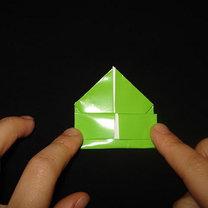 Żaba origami krok 15