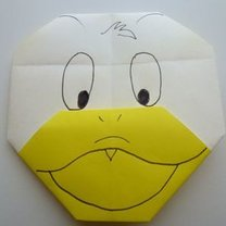 Kaczor Donald origami