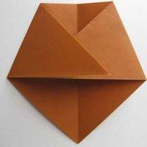 Miś origami krok 6