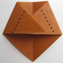 Miś origami krok 7