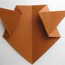 Miś origami krok 8