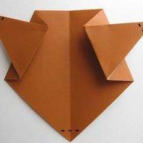 Miś origami krok 9