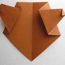 Miś origami krok 10