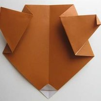 Miś origami krok 11