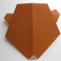 Miś origami krok 13