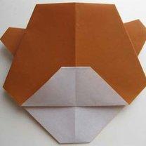 Miś origami krok 14