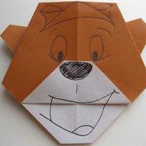 Miś origami krok 15