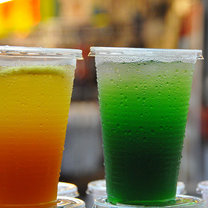 Lody z soku owocowego