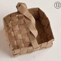koszyczek z papieru - krok 13