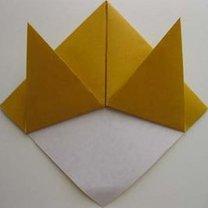 Kot origami krok 8