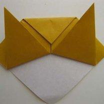 Kot origami krok 9