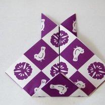 Zajączek origami krok 5