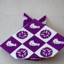 Zajączek origami krok 6