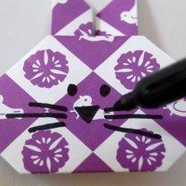 Zajączek origami krok 8