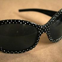 okulary w groszki