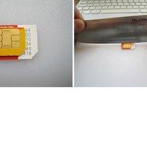 Przycinanie karty sim do iPhone 2